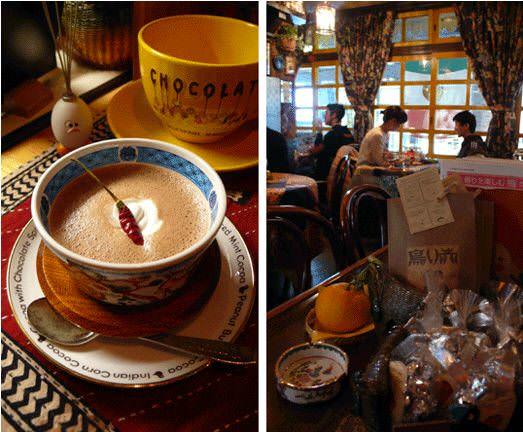 大阪必喝 「COCOA SHOP AKAITORI」的唐辛子可可亞