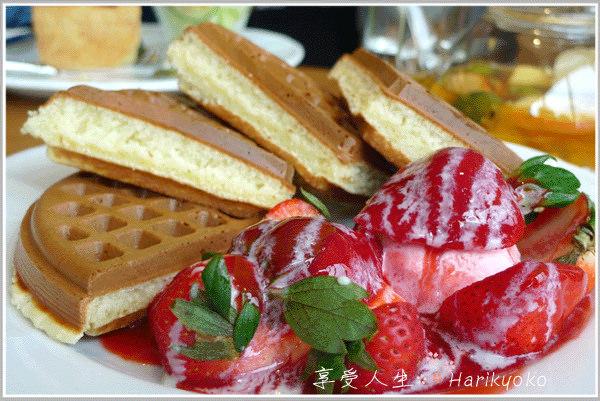 ♪ 米朗琪咖啡館的草莓奶油鬆餅 ♪ 米朗琪 DOK 館