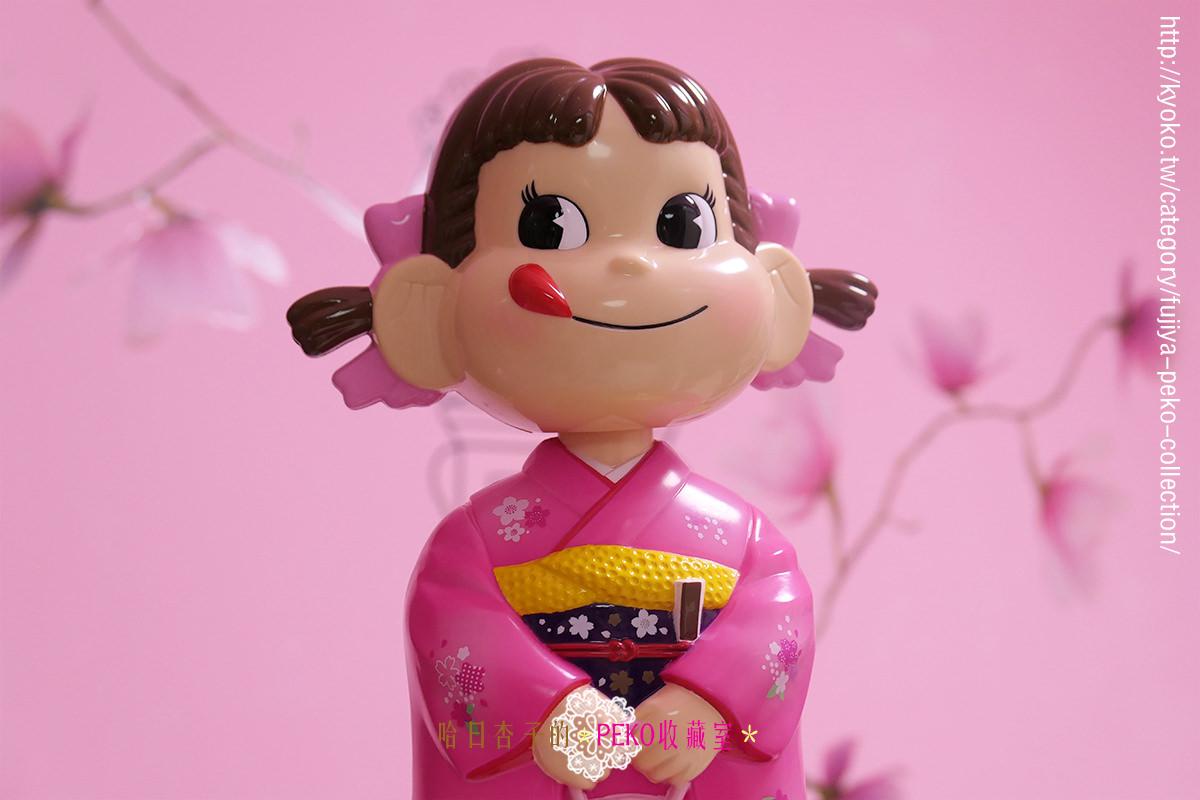 不二家 PEKO  | 2018年和服搖頭牛奶妹娃娃・晴れ着首振りぺこちゃん人形 | (收藏娃娃系列13)