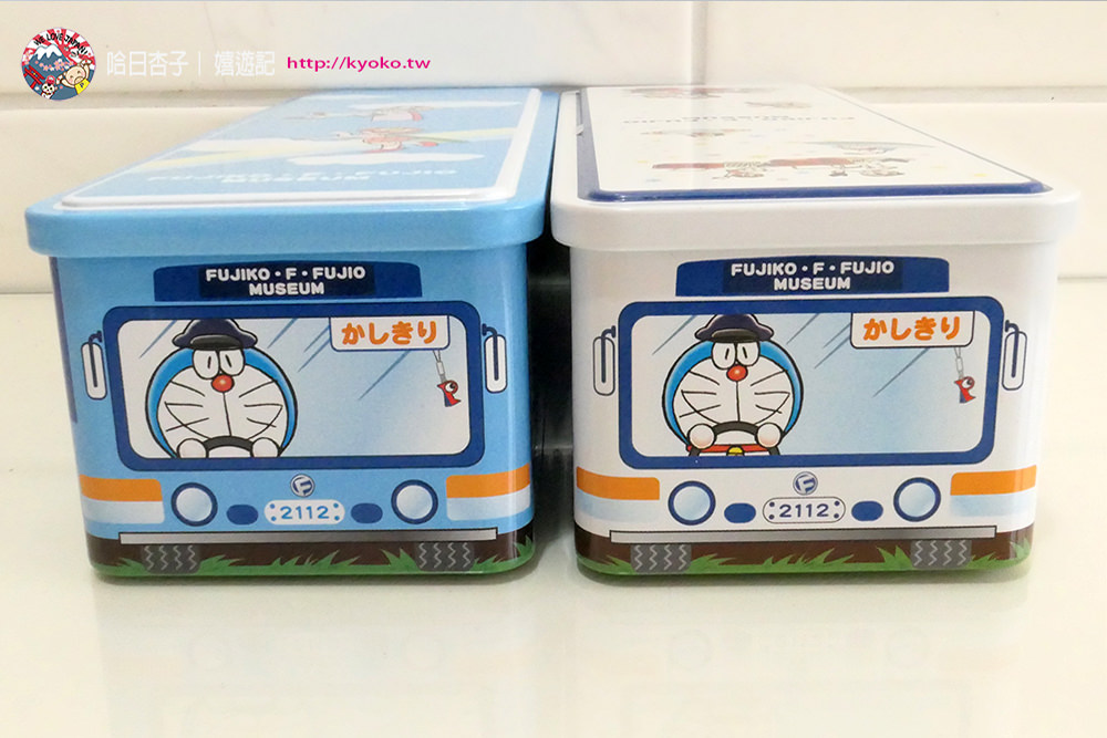 哆啦A夢 | 藤子・F・不二雄博物館必買・博物館接駁巴士法式小蛋糕禮盒 | 藍色+白色新款