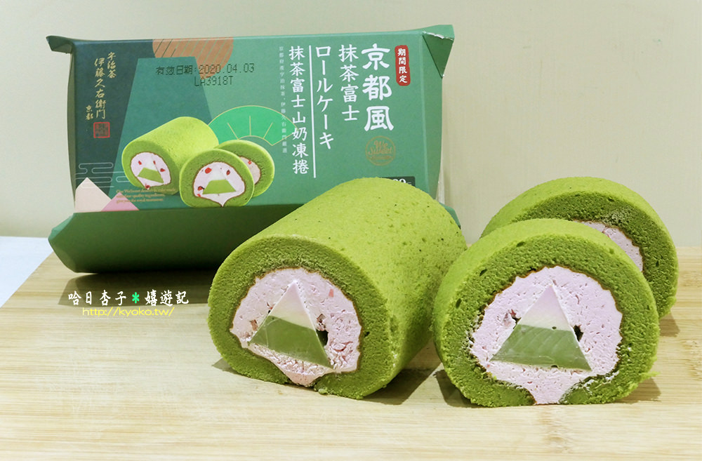 全聯日系好物|99元超值京都風抹茶富士奶凍捲|伊藤久右衛門嚴選