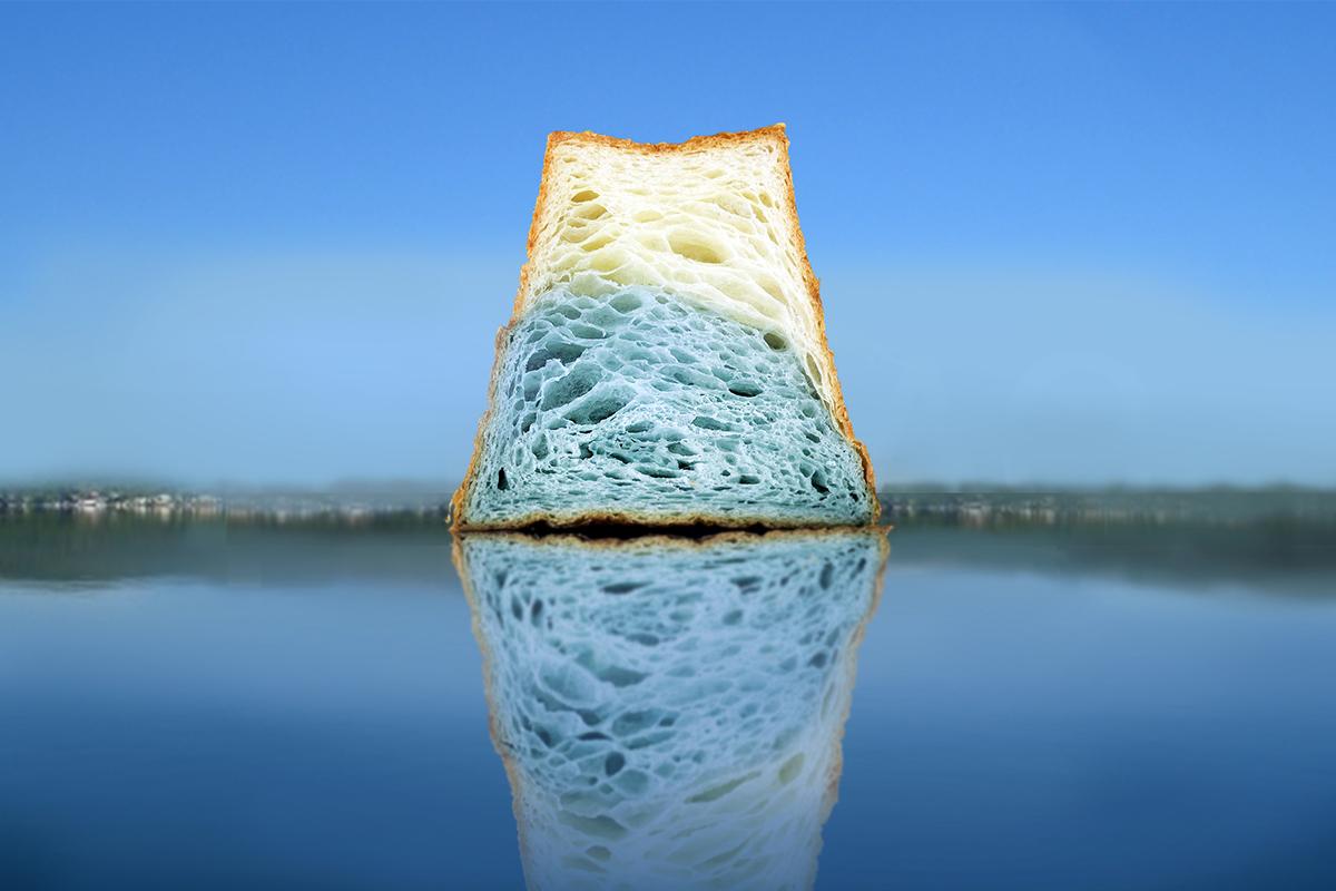 一起來吃富士山|河口湖山形吐司|八月堂全新力作|水藍色夢幻造型好看又好吃